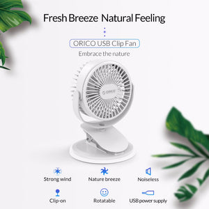ORICO USB Fan Mini Electrical Fan With Key Switch Angle Adjustable USB Fan All-round Rotation For