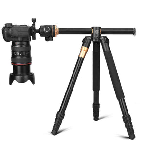 Q999H Professional Camera Tripod 61 Inch Portable Compact Travel Horizontal System Tripod for