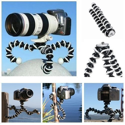 2018 Large Octopus Flexible Tripod Stand for Gopro Hero 4/ 3+/ 3 sj40/Camera Digital DV Canon