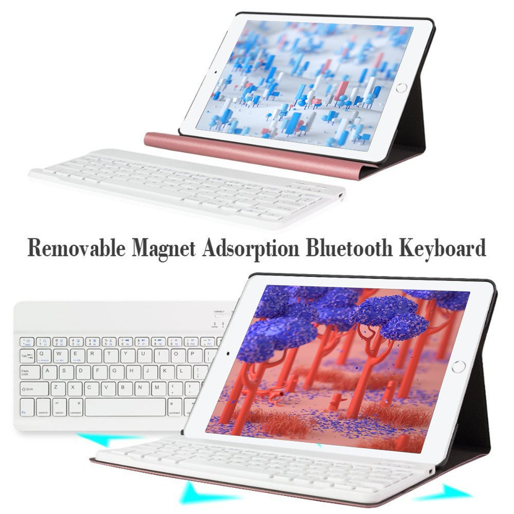 Case For iPad 2018 Bluetooth Keyboard With removable Keyboard For iPad 2017 Pro 9.7 Air 1/2