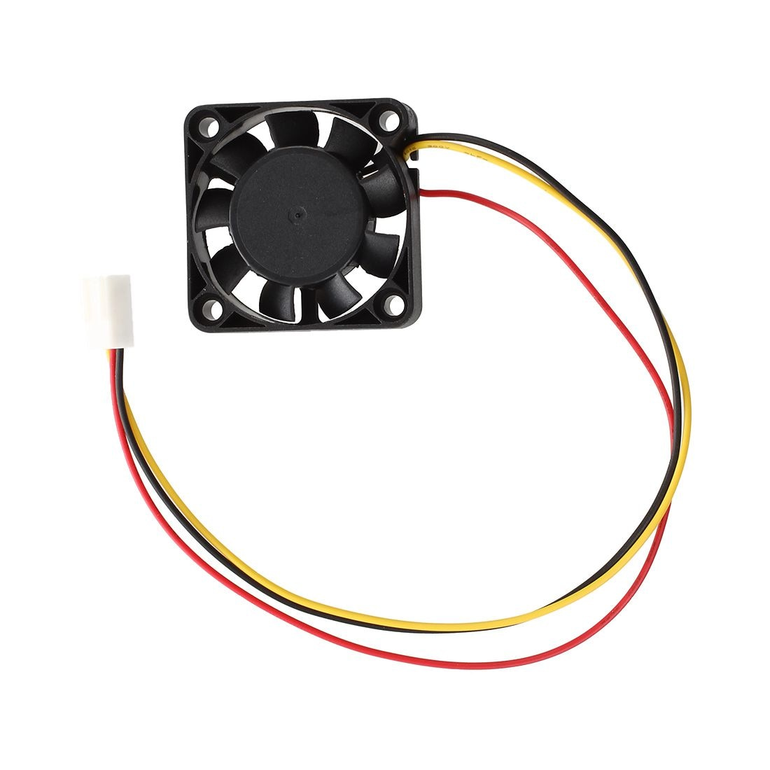 2 Pcs 3 Pin 40mm Square PC Computer Cooling Fan DC 12V Black