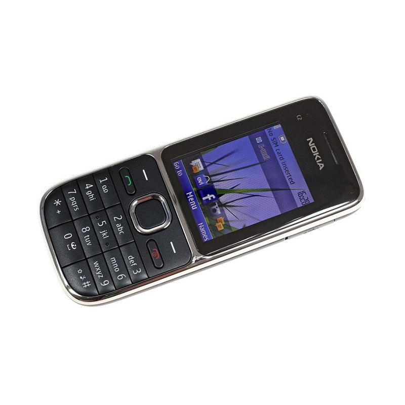 "100% Original Nokia C2-01 Unlocked Mobile Phone C2 2.0"" 3.2MP Bluetooth &Hebrew keyboard"