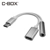 C-BOX USB C Headphone Adapter 2 in 1 Type C to 3.5 mm Aux Jack For Letv2Pro Max2 Xiaomi Type C 3.5mm
