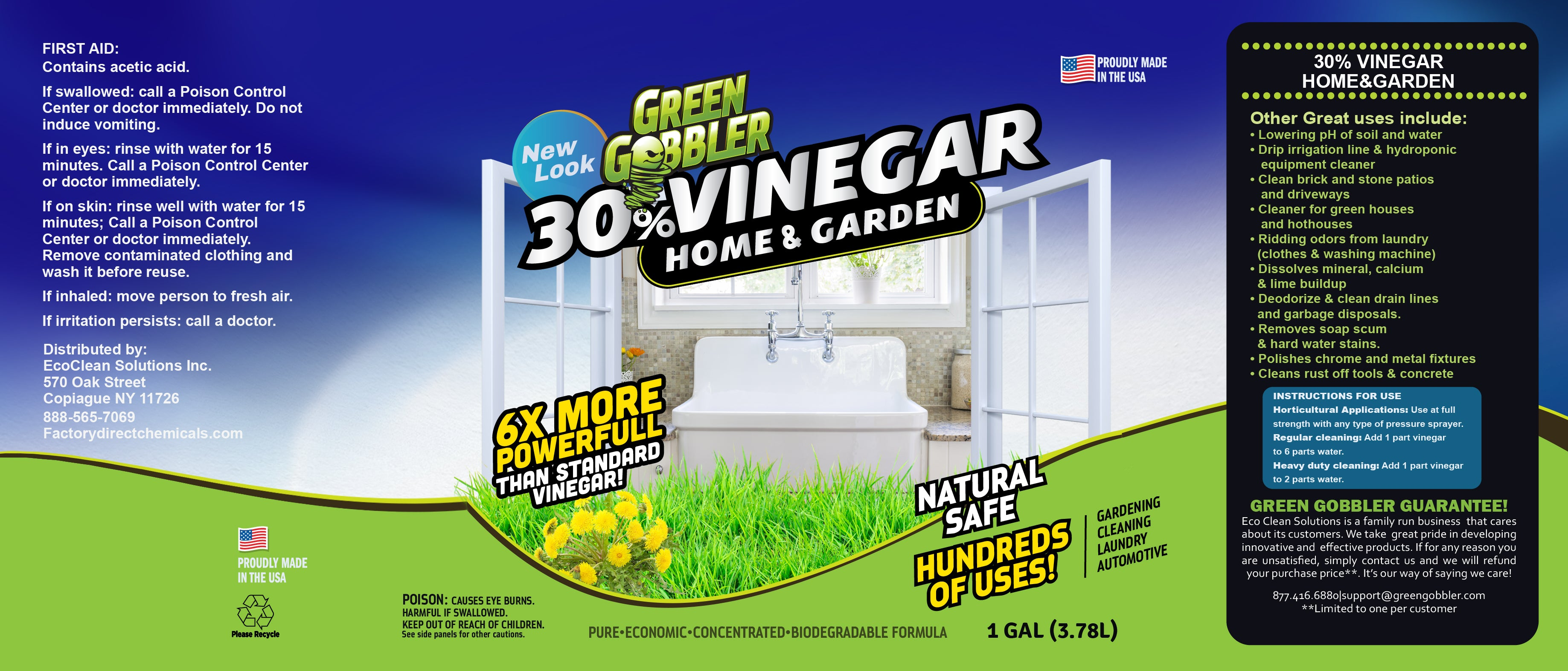 Pure 30% VINEGAR Solution - Home & Garden – Factory Direct