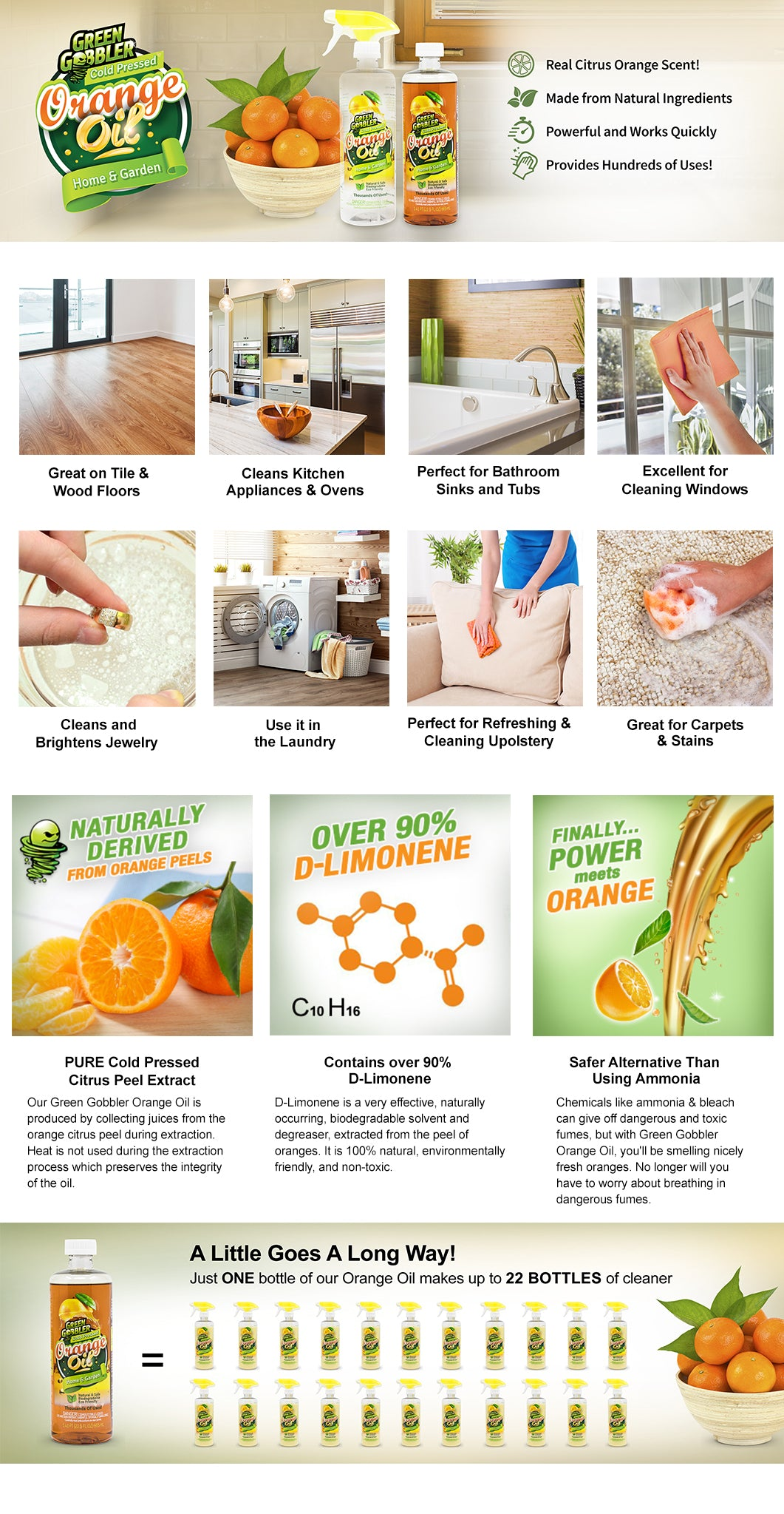 orange oil d-limonene cleaner