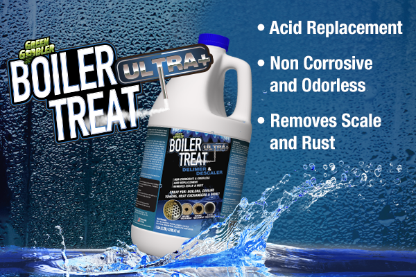 boiler treat ultra delimer and descaler banner