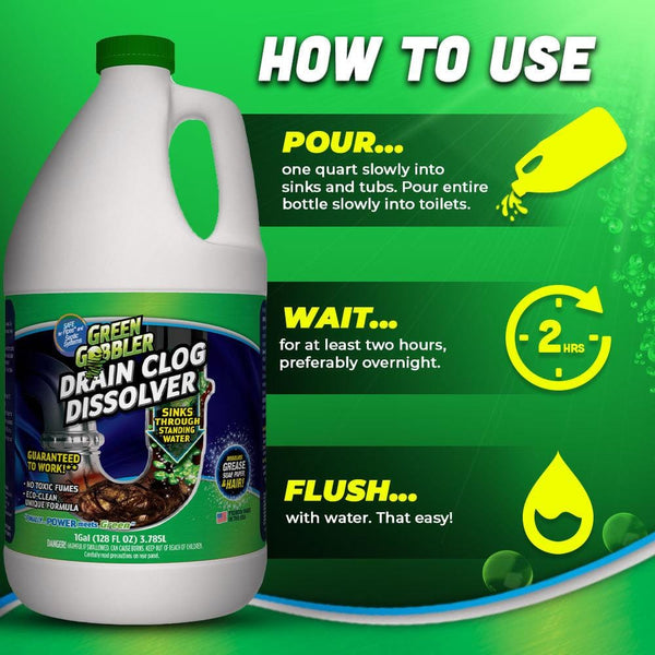 Green Gobbler DISSOLVE Liquid Hair & Grease Clog Remover