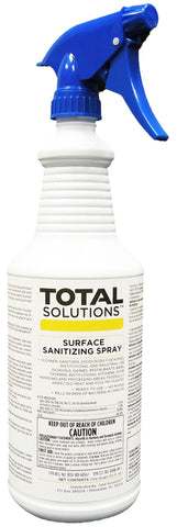 Surface Sanitizing Spray- No Rinse Sanitizer for food contact surfaces- 12 Quarts per case