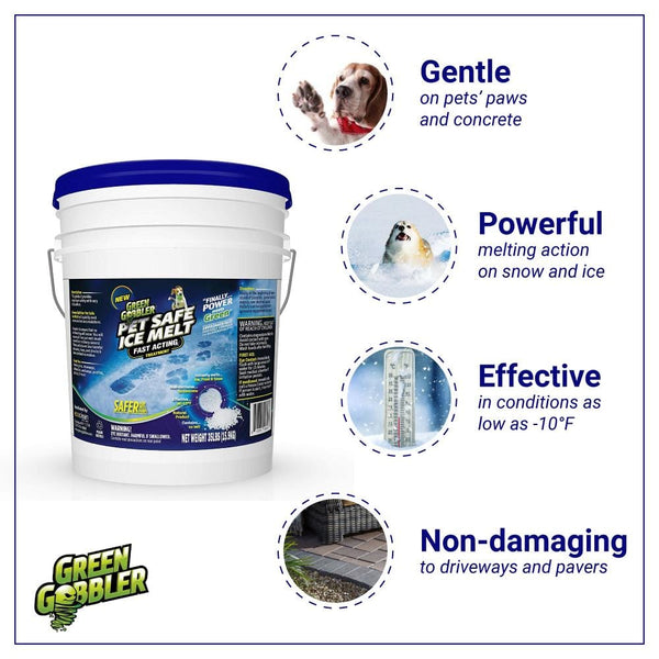 Green Gobbler Pet Safe Ice Melt Bulk - Magnesium Chloride