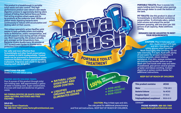 ROYAL FLUSH Portable Toilet Waste DIGESTANT & DEODORIZER
