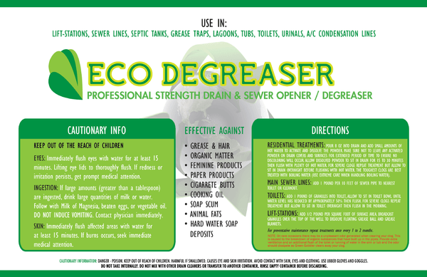 Eco Degreaser Granular Sewer and Lift Station Cleaner