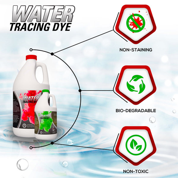 Fluorescent Water Tracing Dye - Red or Green