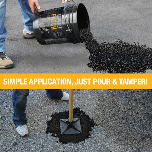 ASPHALT PATCH - For INSTANT Road Repair - 56 lb Pail