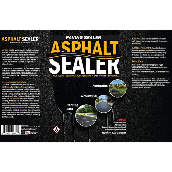 asphalt sealer label