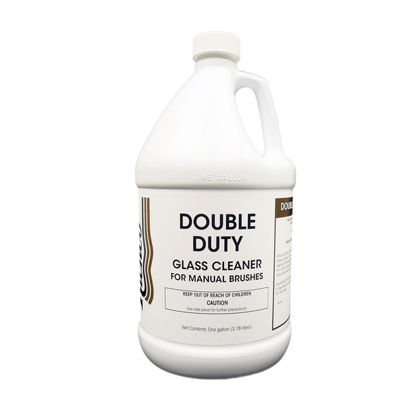 Double Duty, Glass cleaner for manual brush washing