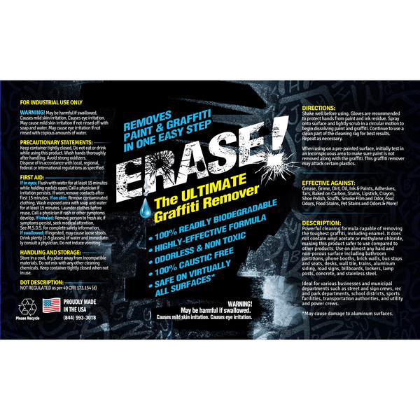 ERASE! Caustic Replacement Graffiti Remover