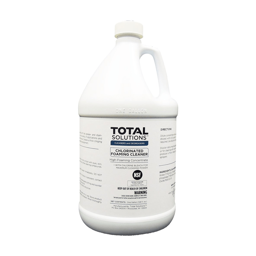 Chlorinated Foaming Cleaner, Concentrated bleach cleaner