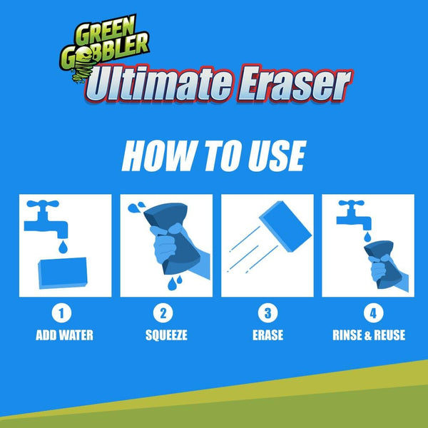 how to use eraser sponge