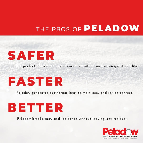 Peladow Premium Calcium Chloride Pellets - Snow & Ice Melter