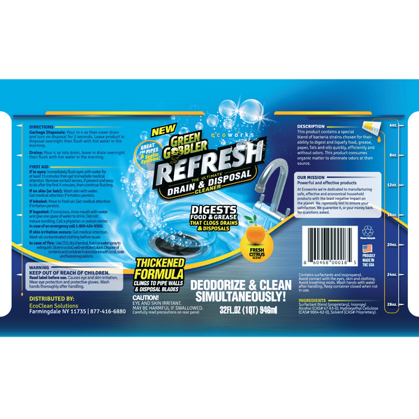 Green Gobbler REFRESH Garbage Disposal & Drain Deodorizer
