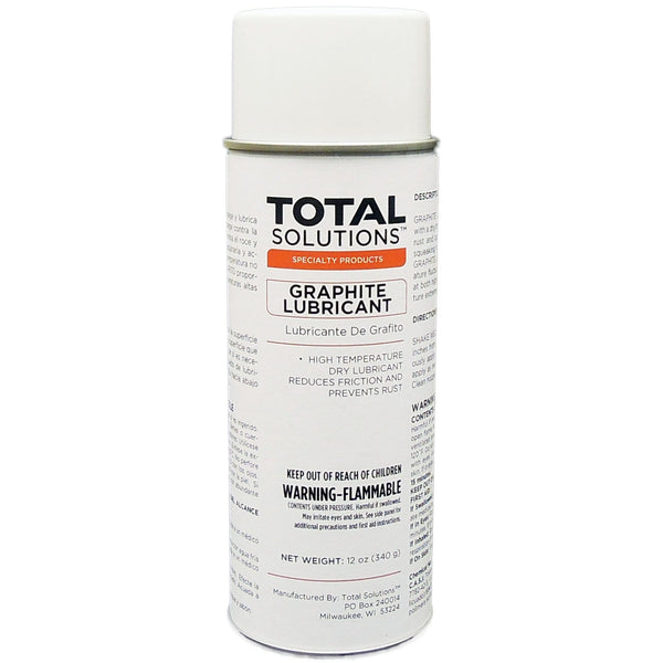 Graphite Lubricant Spray- High-temperature dry lubricant, 12 Can Case