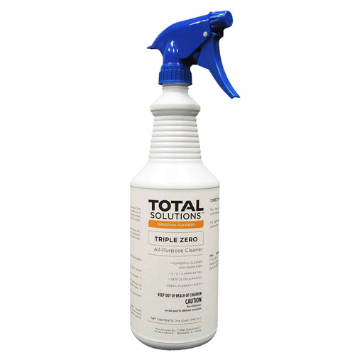 Triple Zero, Heavy-duty Multipurpose Cleaner, Safest degreaser and auto scrubber concentrate, 0/0/0 NFPA rating