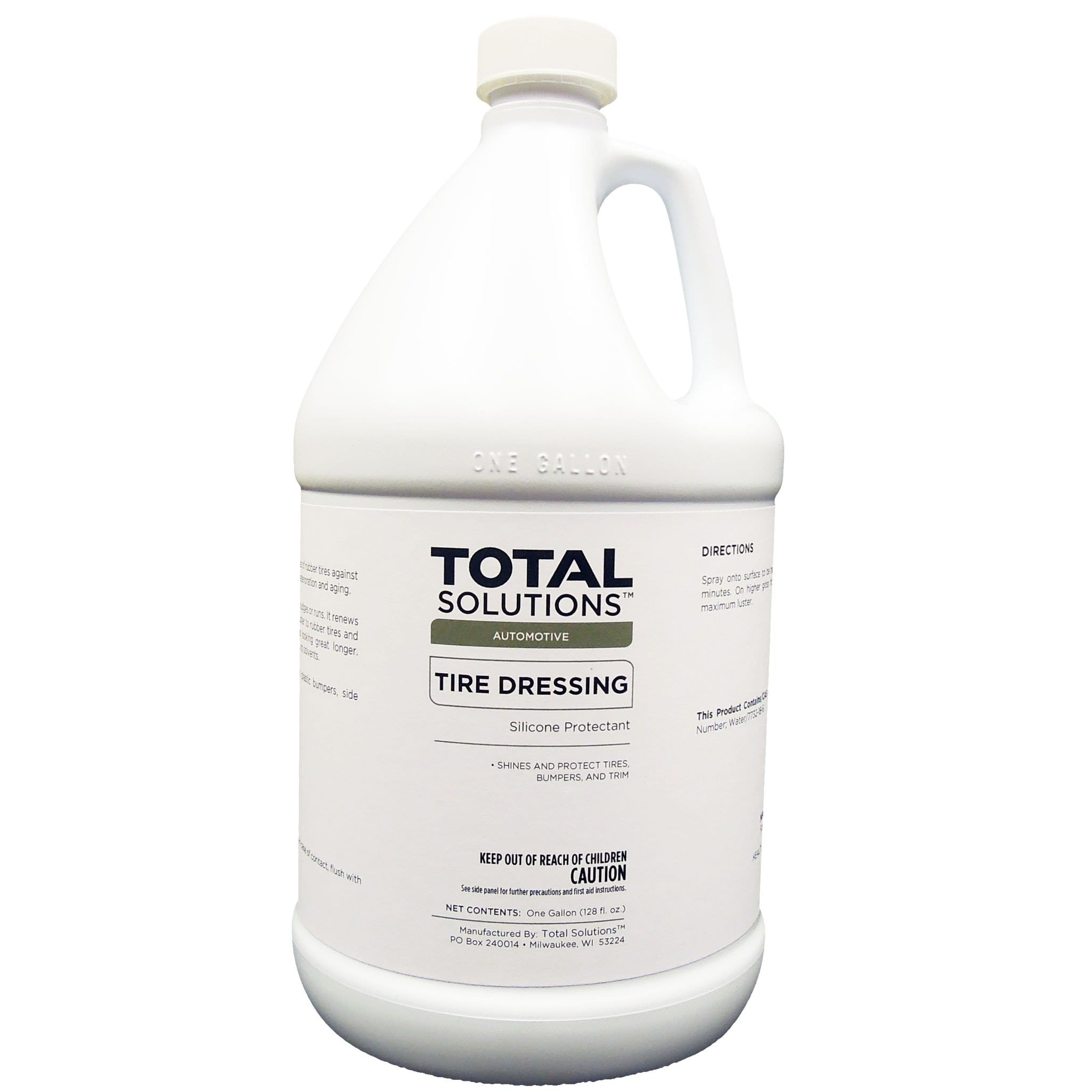Tire Dressing, Water-based silicone protectant - 4 Gallons