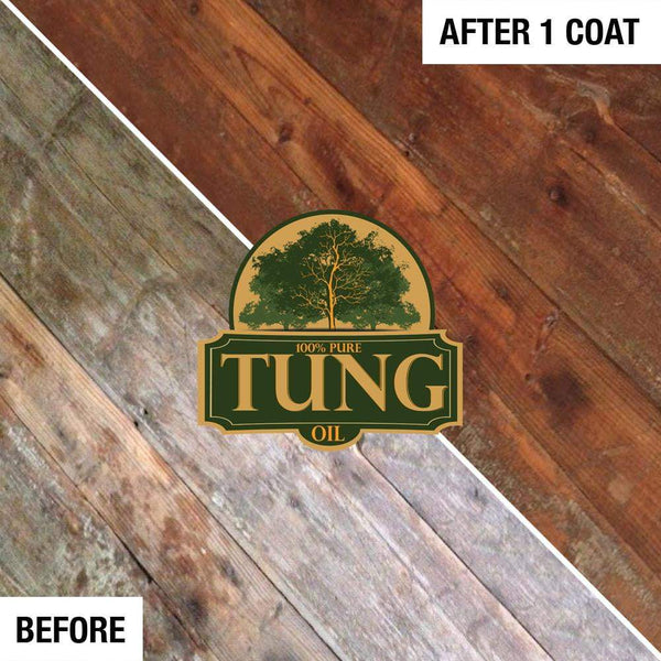 100% Pure Tung Oil Wood Finish & Natural Sealer