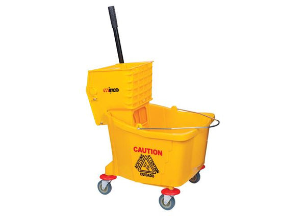 Mop Bucket 36qt w/wringer yellow