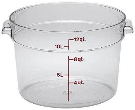 12qt Round Clear Container