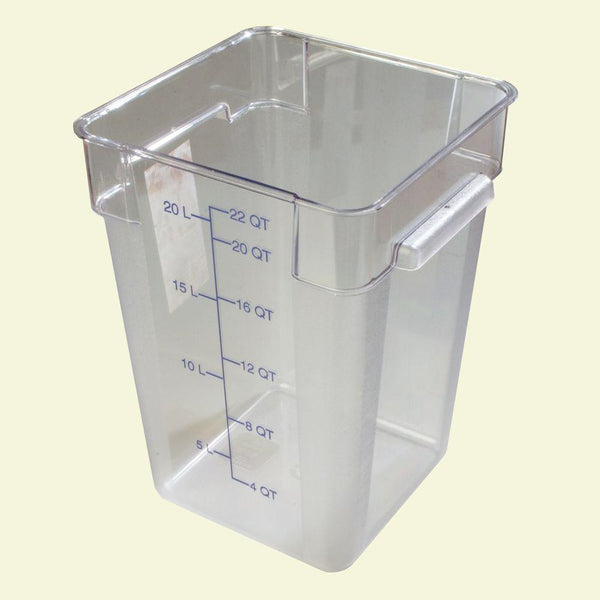 22qt Square Clear Container