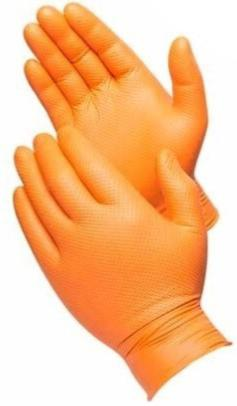 8Mil Orange Nitrile-Disp Glove PF Diamond Text 100/B XXL