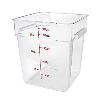 18qt Square Clear Container