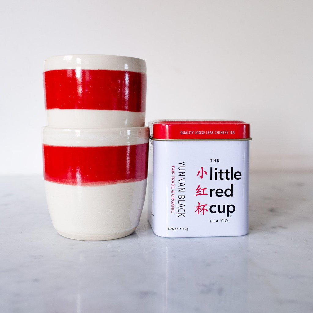 Two Tumblers And A Tin - Set - Organic & Fair Trade -  Little Red Cup Tea Co.