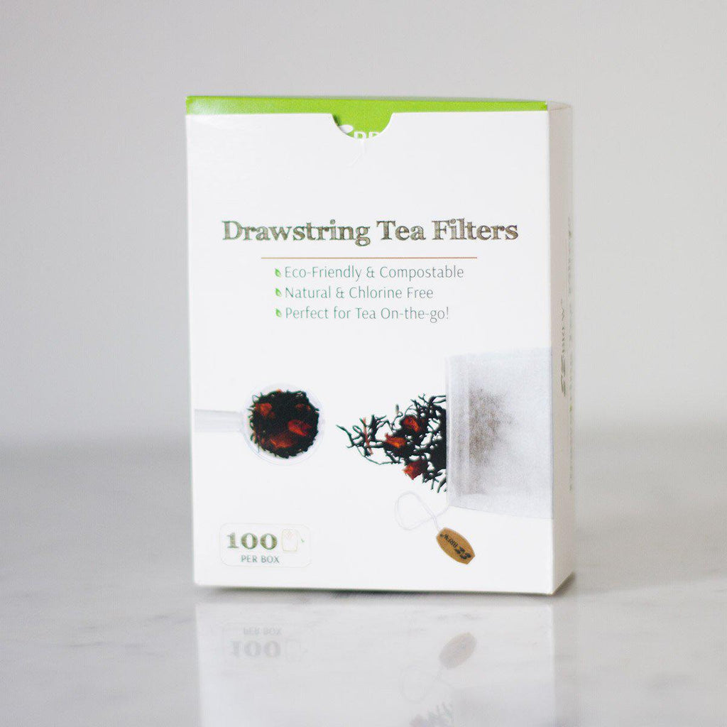 Drawstring Paper Filters - Organic & Fair Trade -  Little Red Cup Tea Co.