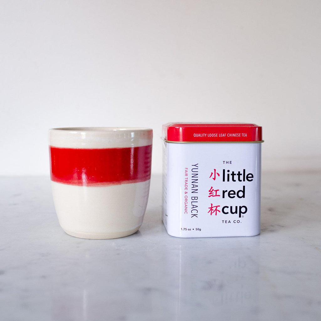 Tumbler And A Tin - Set - Organic & Fair Trade -  Little Red Cup Tea Co.
