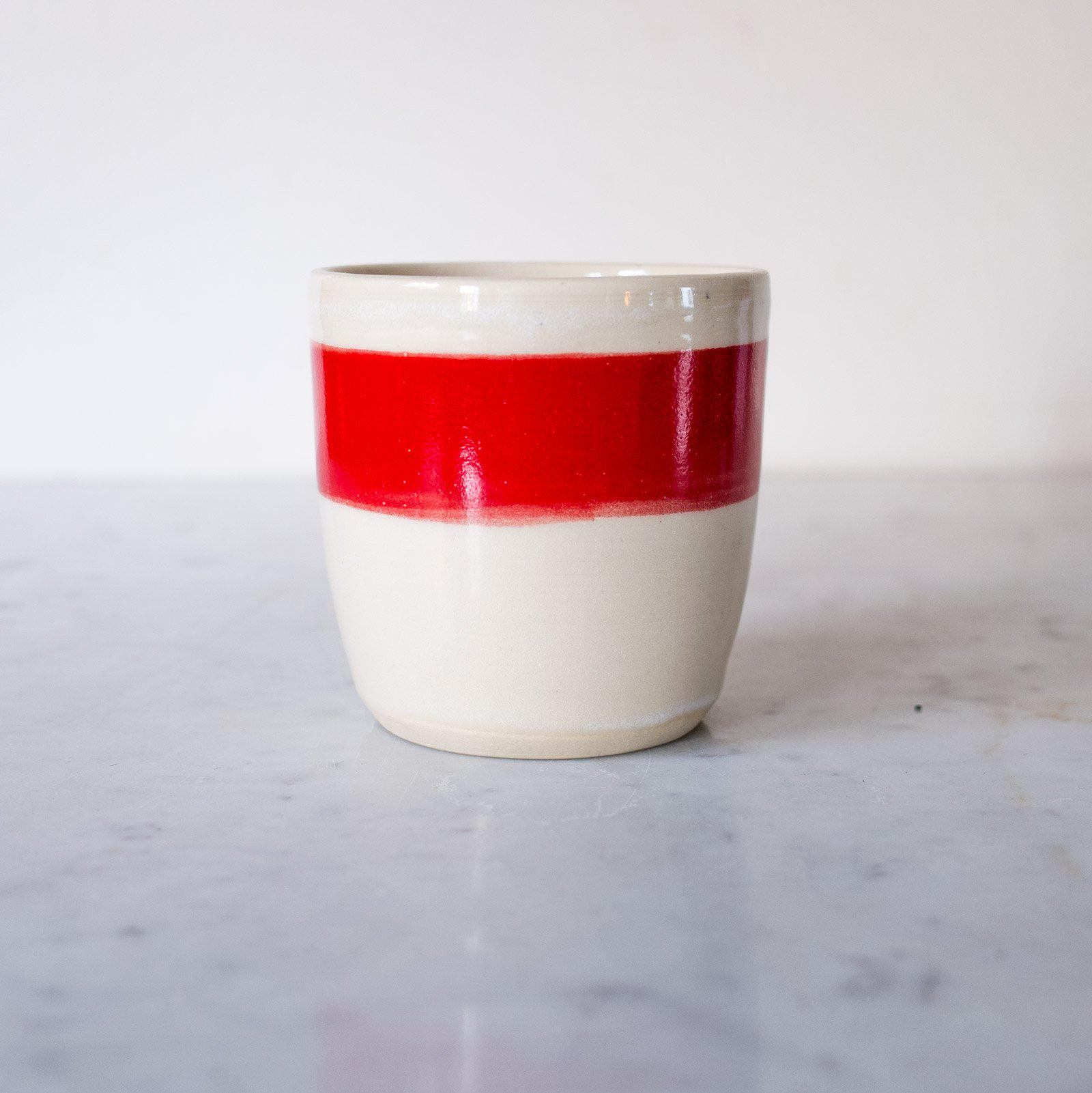 Little Red Cup Ceramic Tumbler - Organic & Fair Trade -  Little Red Cup Tea Co.