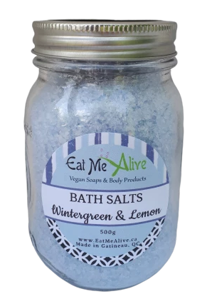 Wintergreen & Lemon Bath Salts