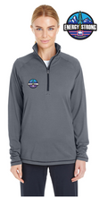 Load image into Gallery viewer, Under Armour Ladies' Tech Stripe Quarter Zip with Energy Strong Logo