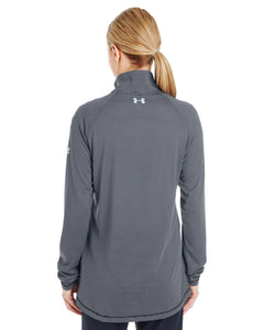 Under Armour Ladies' Tech Stripe Quarter Zip with Energy Strong Logo