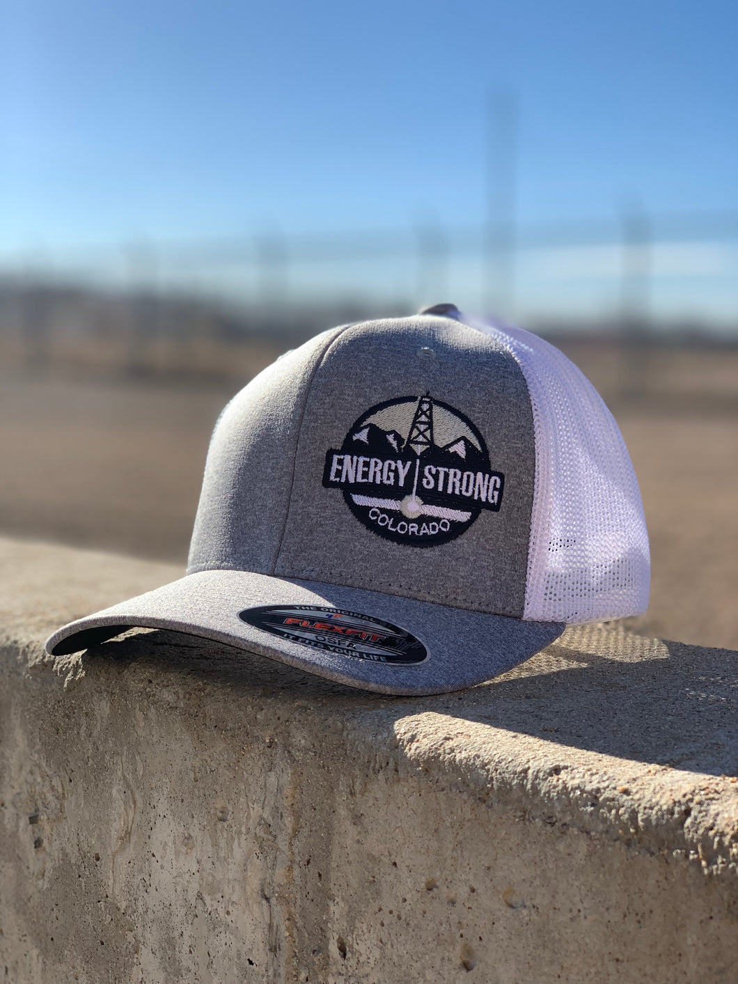Energy Strong Colorado - Flexfit 6311 Heather Black w/Blacked Out Logo