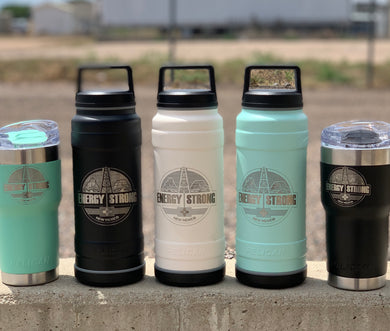 Energy Strong New Mexico - Pelican Laser Engraved Bottle