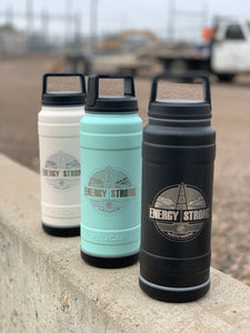 Energy Strong North Dakota - Pelican Laser Engraved Bottle