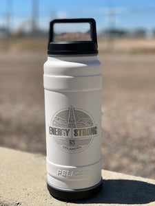 Energy Strong Oklahoma - Pelican Laser Engraved Bottle