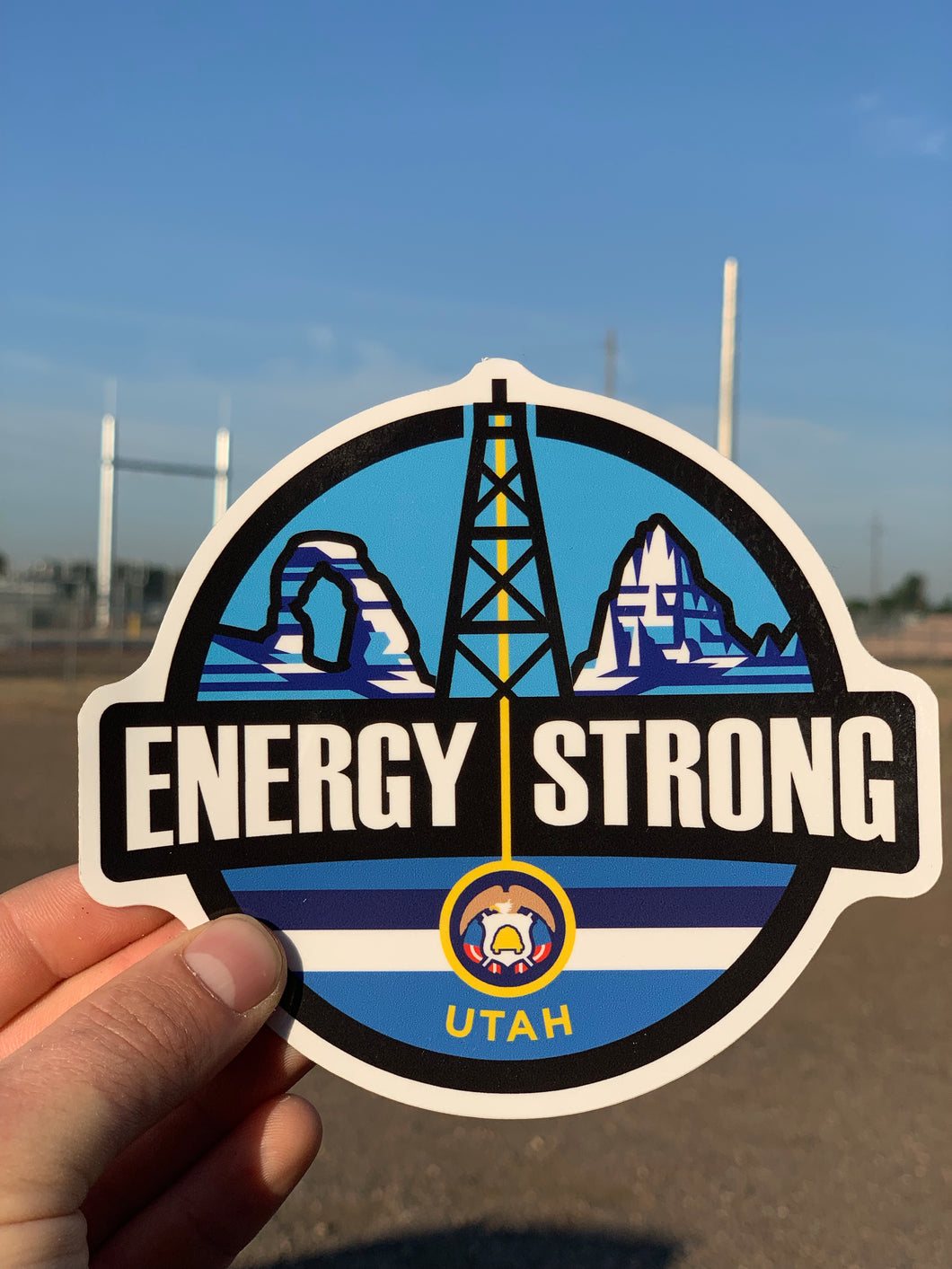 Energy Strong Utah Truck Decal