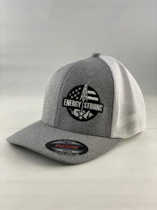 Energy Strong USA - Flexfit 6311 Heather Black w/Blacked Out Logo