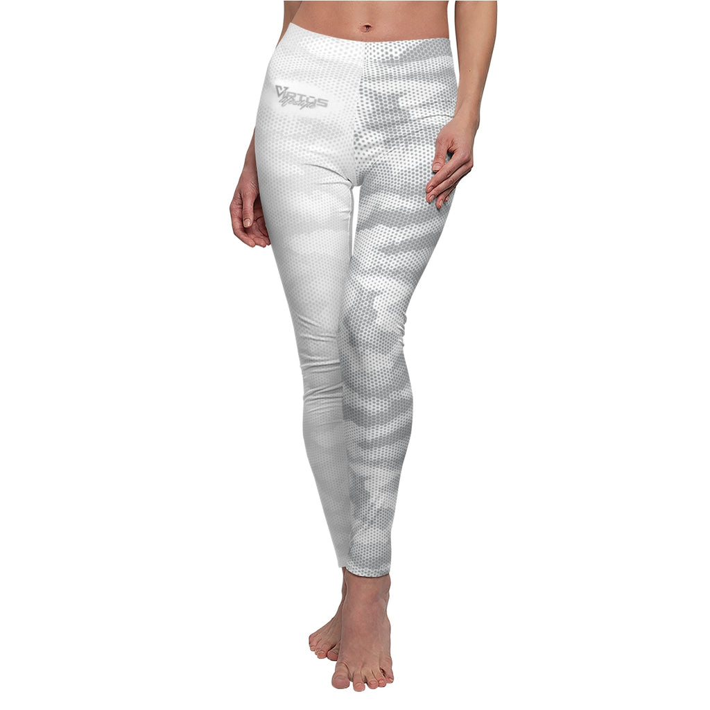 Women's White Camo Yoga Leggings