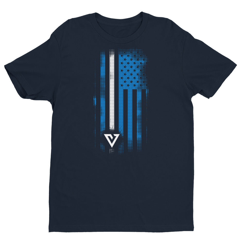 Thin White Line Flag T-shirt