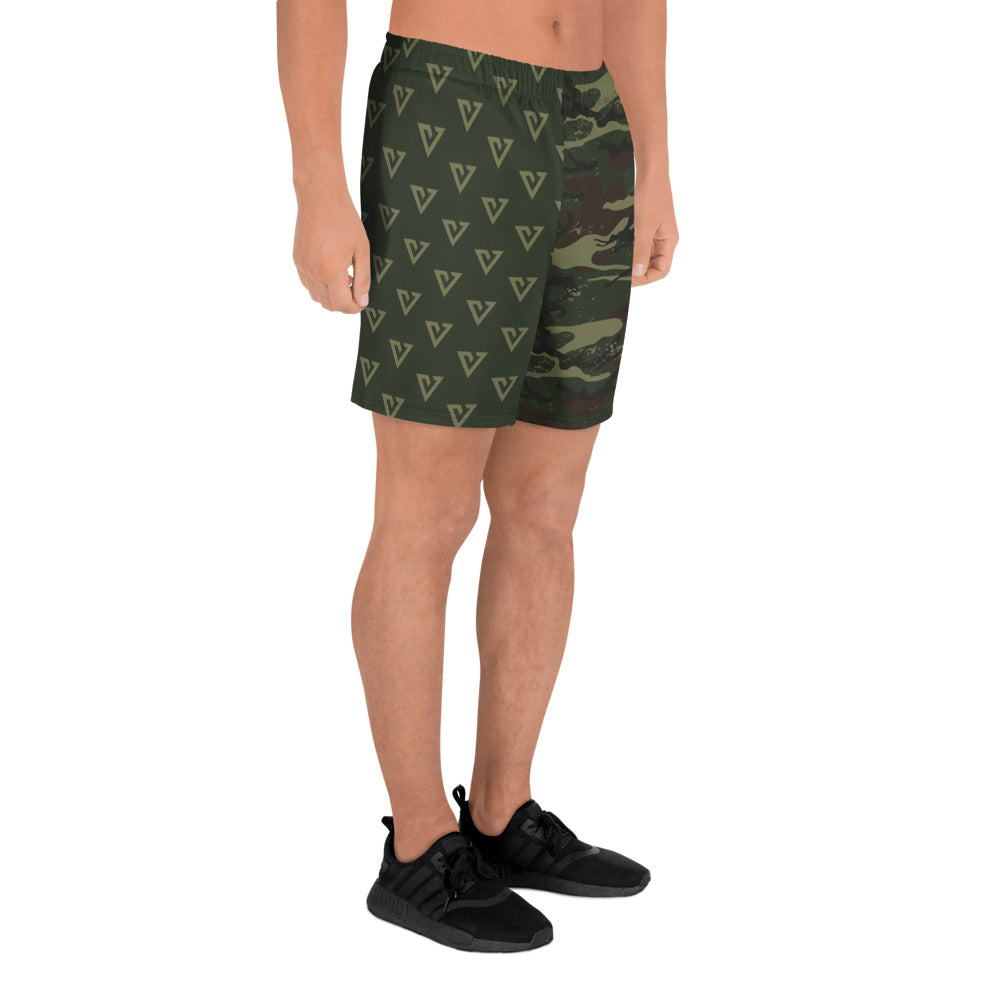 Men's V Pattern Camo Athletic Shorts