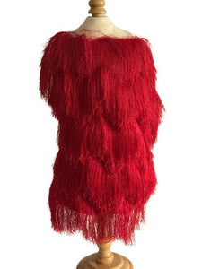 Fringe Jacket - Red